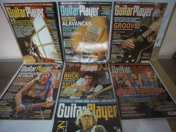 Lote Revista Guitar Player Cover Guitar E Outras (descrição)