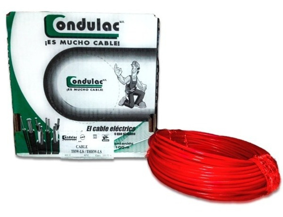Cable Condulac Thw-ls/thhw-ls 90° Rojo #12 Awg 100 Mts