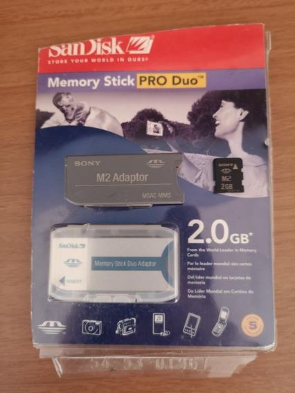 Cartao De Memória Sandisk Sony M2 2gb