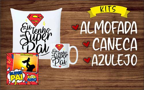 Imagem 1 de 3 de Kits Presente - (caneca + Almofada + Azulejo) - Dia Dos País