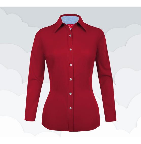 e7f8f674551d Blusas Rojas Con Bolitas Blancas - Camisas Larga en Mercado Libre México