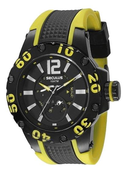 Relógio Seculus Masculino Moderno 20105gpsspu3