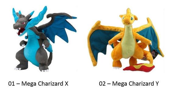 Pelúcia Turma Pokémon Mega Charizard X Y (30cm) - Importada