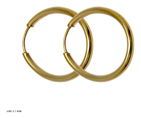 Brinco Argola Em Ouro 18k 750 C(026) Com Oferta Especial