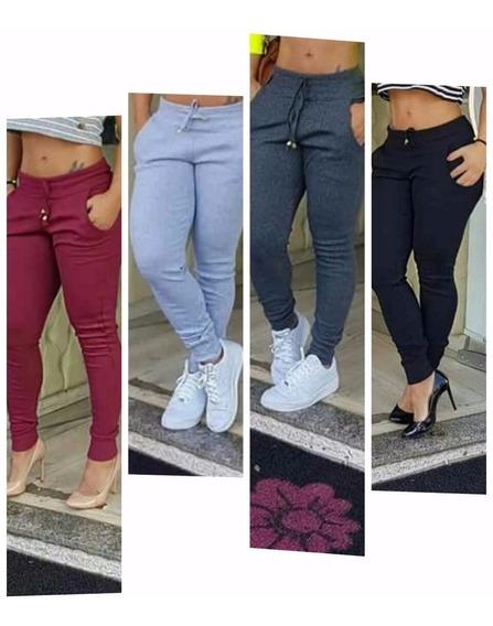 Calça Ribana E Conjunto Cropped E Shorts