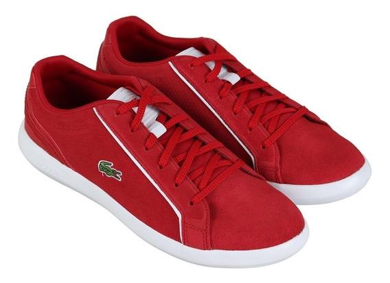 Tenis Lacoste Color Rojo Talla 28 Mex / 10 Us Oferta!!