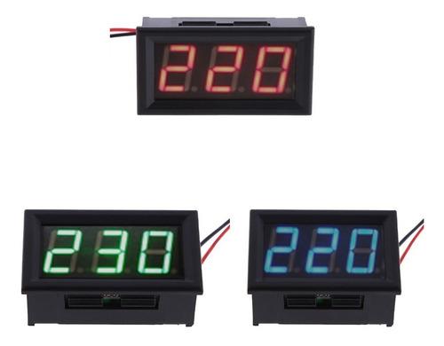Voltímetro Ac 110/220/380v Medidor De Tensão Ac Digital Led