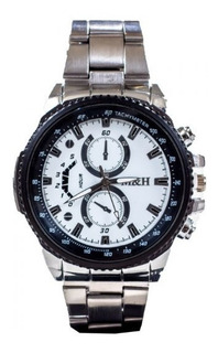 Reloj Analógico Hombre Vintage Metálico Inoxidable M&h