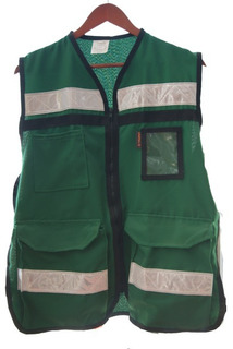 Chaleco Brigadista Con Cintas Reflejantes Verde Truper 14664