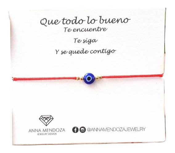 Pulsera Ojo Turco Hilo Rojo