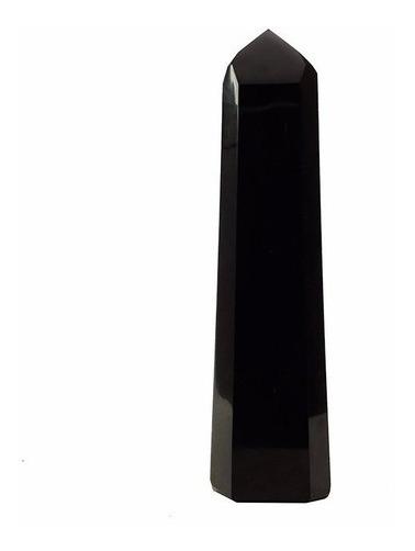 Obelisco/ponta Pedra Obsidiana Negra Preta Natural 5cm Cd13