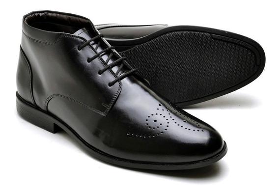 Sapato Bota Social Masculino Em Couro Promoção 7580