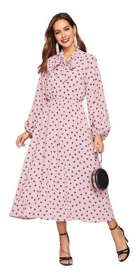 Tsuki Moda Japonesa: Vestidos Casuales Polka Dots Elegante