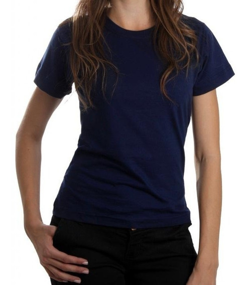 7 Camisetas Baby Look Feminina Algodão Lisa Blusinha Camisa