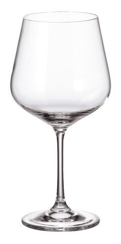 Imagen 1 de 5 de Copón Vino Cristal Bohemia Original Strix 600ml Set X 6