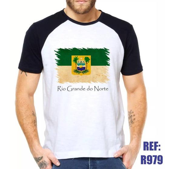 Camisa Raglan Rio Grande Do Norte Bandeira Rn Estado Swag