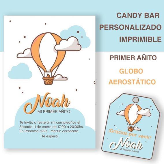 Kit Imprimible Personalizado Candy Bar Primer Año Babyshower