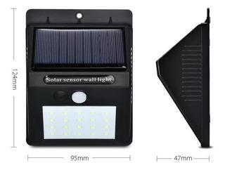 Lampara Energía Solar Leds Sensor De Movimiento Interior Ext