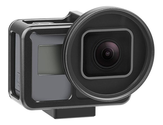 Proaventura Frame Em Alumínio+lente Uv 52m Gopro Hero 7 Blck