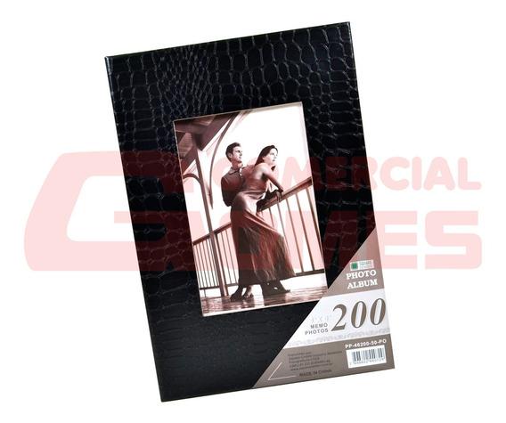 Album De Couro Para 200 Fotos 10x15 Cm Pp-46200-50-po