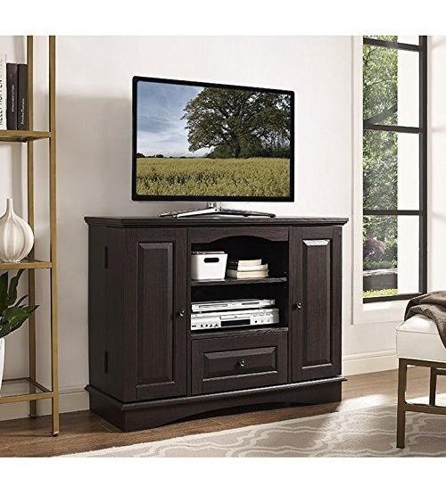 We Furniture 42 Espresso Wood Highboy Tv