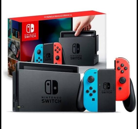 Nintendo Switch 32 Gb Colorido (vermelho/azul) + Case E Jogo