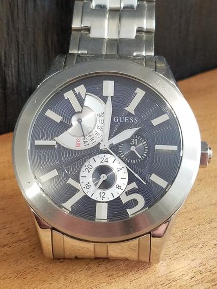 Reloj De Hombre Marca Guess Orig Casual De Acero Inoxidable
