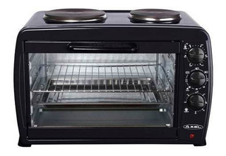 Horno Electrico Axel 45 L Doble Anafe Grill Parrilla Cuotas