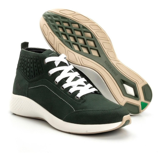 Tênis Bota Masculino Jhon Boots Yeezy Sneakers Urban / Couro