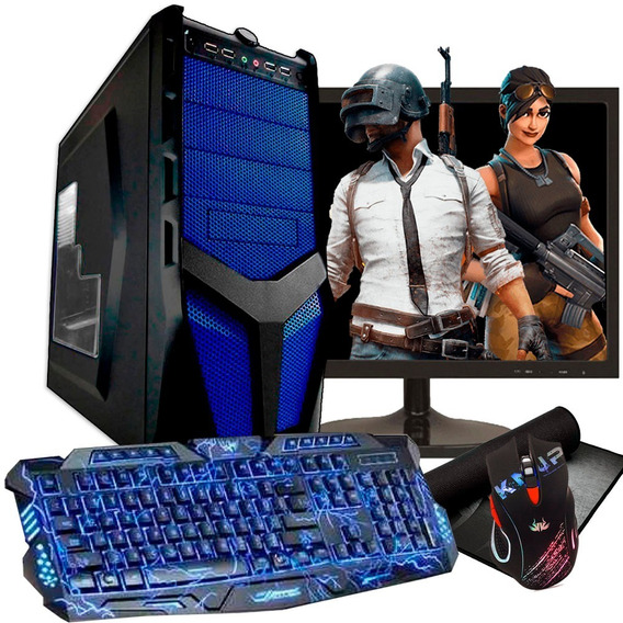 Pc Gamer Barato Completo Com Tela Quad-core 8gb Geforce 2gb