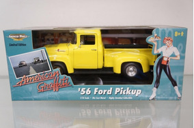Mini Pickup Ford F-100 1956 Ertl 1:18 American Graffiti Raro