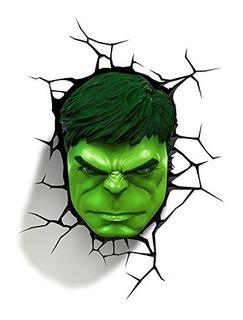 Decoración 3dlightfx Marvel Avengers Hulk Face 3d Deco Light