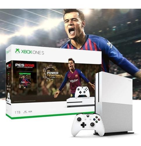 Xbox One S 1tb Consola Pes2019 4k Original Dia Del Niño