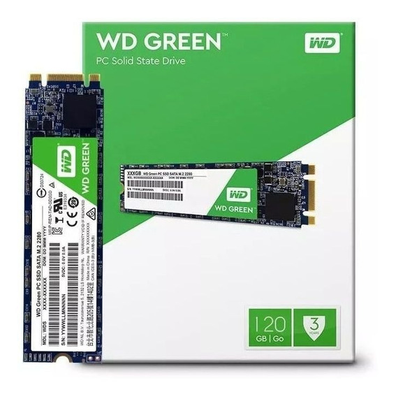 Ssd M.2 Western Digital Green 120gb