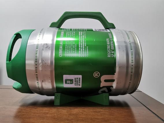 Kit Alça + Base Apoio Para Barril Heineken Caixa De Som