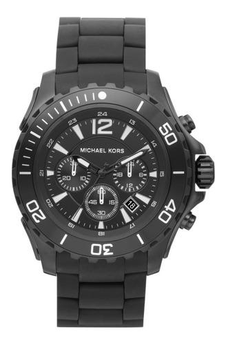 Relógio Michael Kors Mk8211 Drake Orig Chron Anal Black