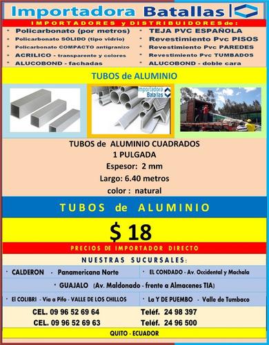 Imagen 1 de 10 de Tuberia D Alumin Y Metálica Cable Acero Tol Alumn Antides Tb
