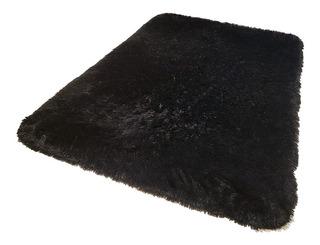 Carpeta Alfombra Bengali Negro 100 X 150 Cm Soul