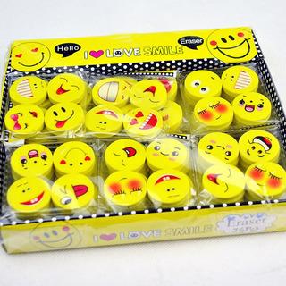 Caja 30 Paquetes Borradores Emoji =120 Caritas Gomas Kawaii