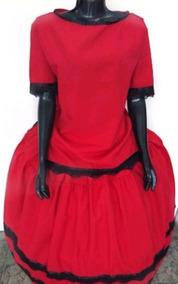 Conjunto De Saia E Bata,pomba Gira,roupa.vermelha