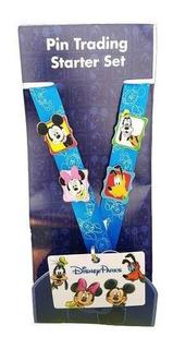 Disney Peeking Mickey & Gang 4 Pin Trading Starter Set