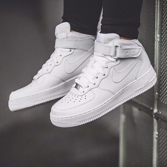 Zapatillas Nike Air Force 1 Mid 07. Hermosas E Impecables!!