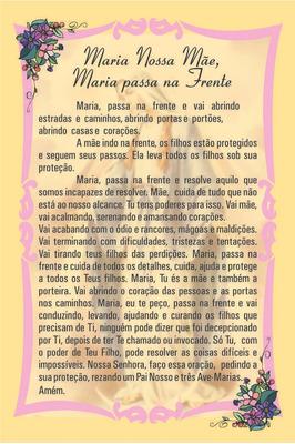 Maria Nossa Mae, Maria Passa Na Frente