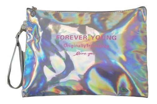 Exclusiva Cartera Sobre Forever Young Mod Envel Tornasolado