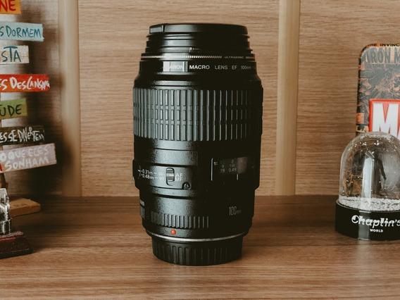 Lente Canon Focal 100mm Macro Usm