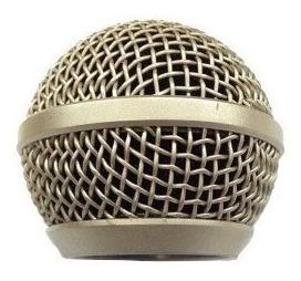 Globo Para Microfone Le Son Sm58 P4 Champanhe Gb58
