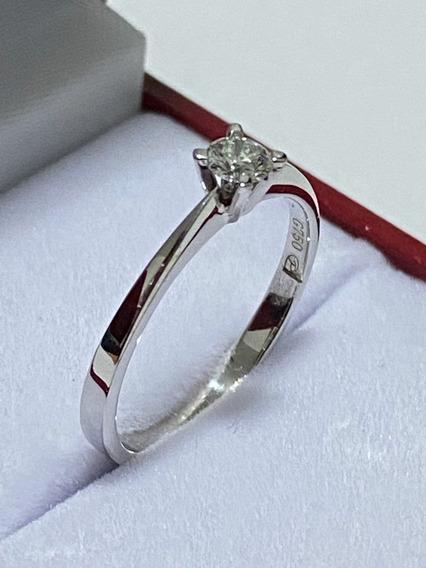 Anillo De Compromiso Diamante Natural 0.18ct