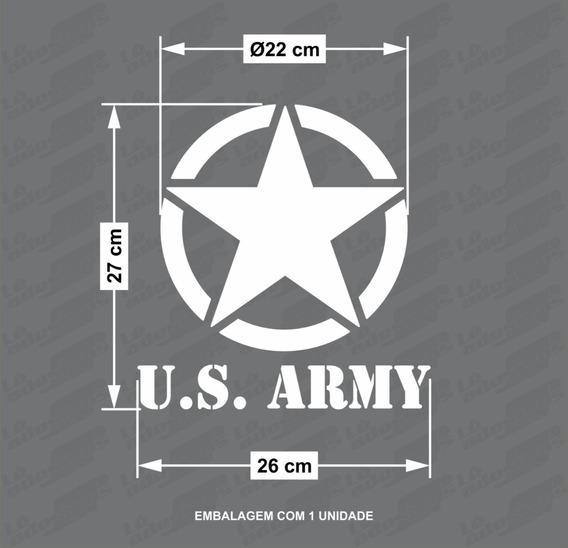 Adesivo Decorativo Us. Army Jeep/troller 26x27cm 1unid