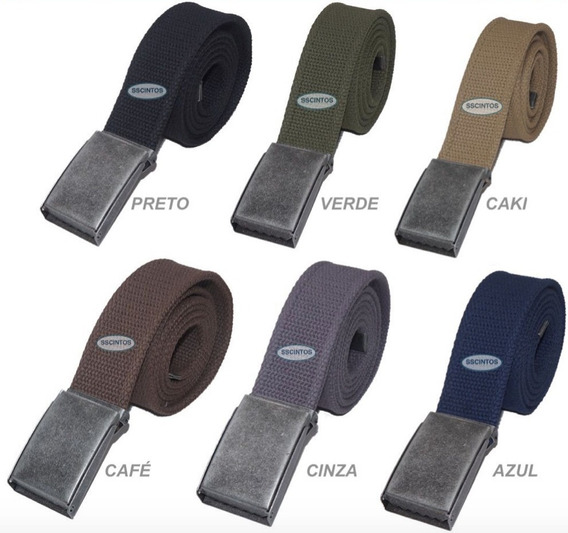 Cinto Plus Size Masculino Lona Premium 2 Bordas 4cm L40cz