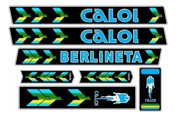 Adesivo Bicicleta Antiga Caloi Berlineta 1978 Azul 78